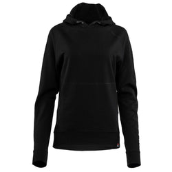 Womens Merino 260 Lounge Hoodie (Black/Smoke)