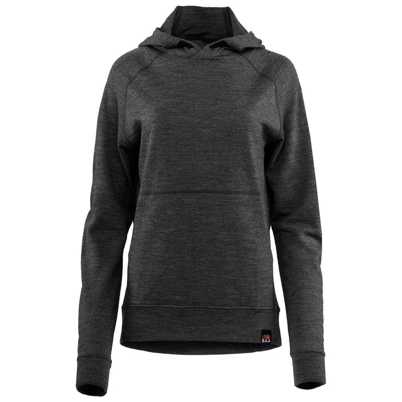 Womens Merino 260 Lounge Hoodie (Smoke/Black)