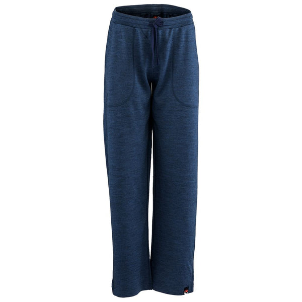 Womens Merino 260 Lounge Loose Joggers (Denim/Navy)