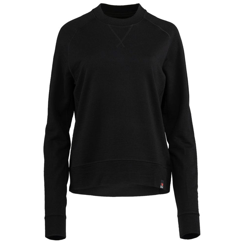 Womens Merino 260 Lounge Sweatshirt (Black)