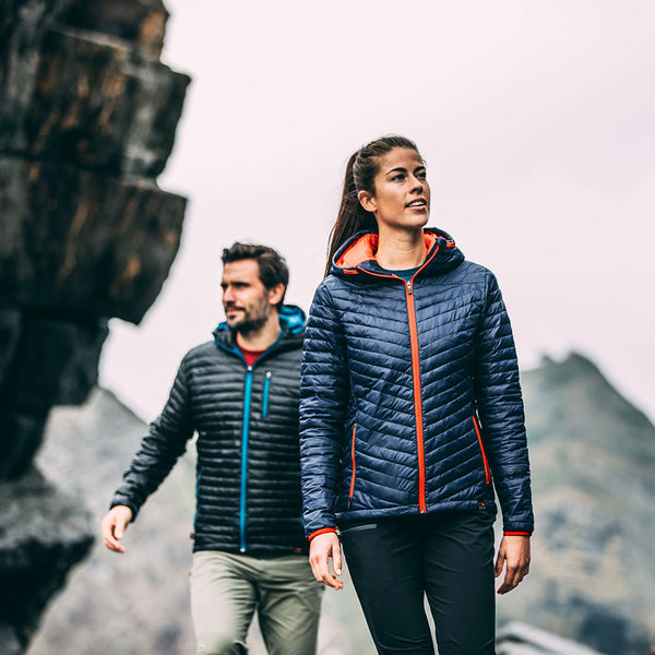 PRE-ORDER - Womens Merino Wool Insulated Jacket (Navy/Orange)