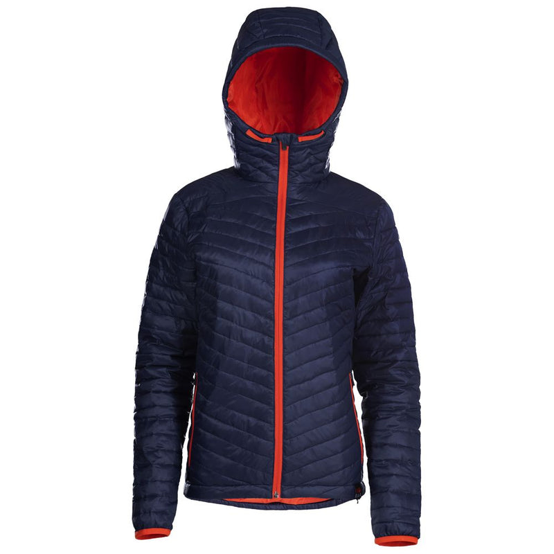 Womens Merino Wool Insulated Jacket (Navy/Orange)