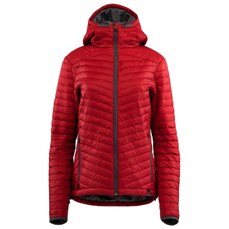 Womens Wool Insulated Jacket (Red/Smoke)
