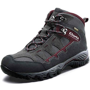 Clorts Waterproof Men's Hiking Boots Outdoor Lightweight Work Shoes Backpacking Trekking Trails