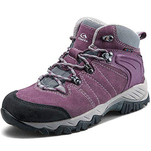 Women's Hiking Boots Waterproof Suede Leather Lightweight Hiking Shoes