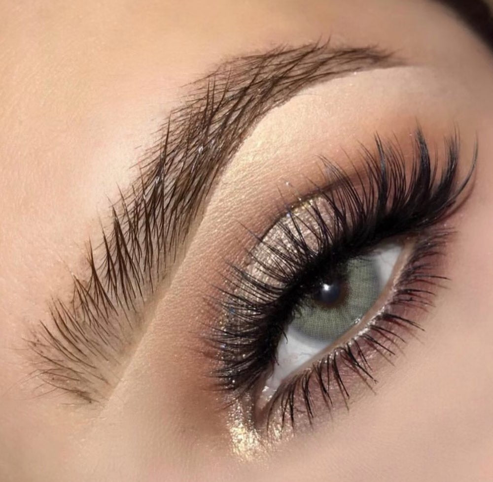 The most natural looking  grey color contact lenses for brown eyes