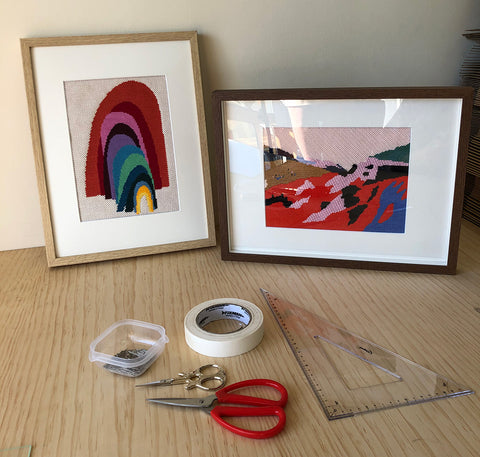 how to needlepoint framing tools