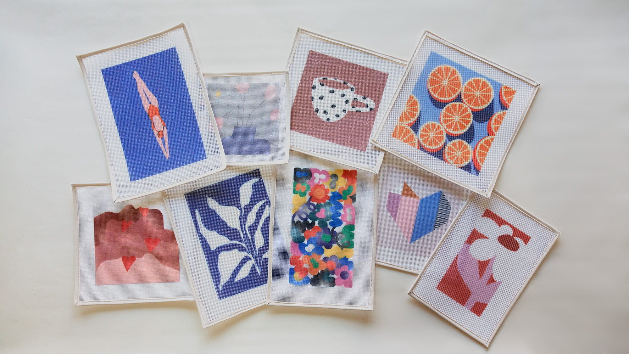 New needlepoint kits for your summer break by Unwind Studio