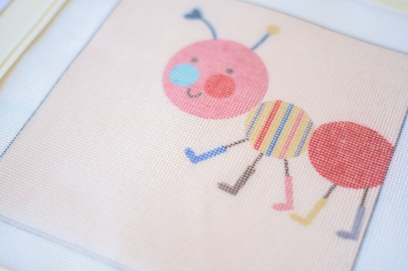 ant animals needlepoint tapestry childrens decor nursery