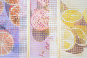 summer mini series citrus needlepoint tapestry unwind studio