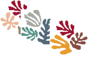 "Matisse ""The Sheaf"" Bookmarks and Ornaments Needlepoint Cross-Stitch for Charity Donation"
