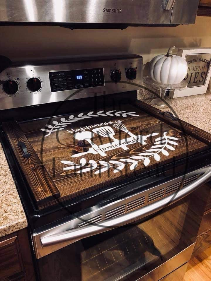 Personlized Stove Top Cover