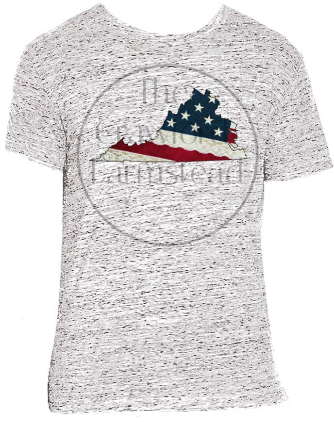 Virginia T-Shirt, Virginia Lace T-Shirt, Lace Tee, Virginia is For Lovers, VA, Virginia, American Flag Tee, USA Flag Tee, Patriotic T-Shirt