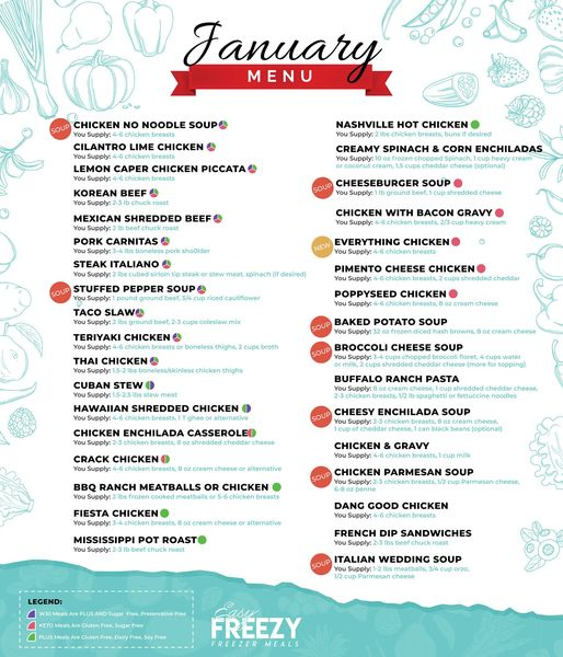 January 2021 Cooking Instructions + Nutritional Facts