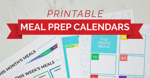 New Meal Prep Calendars