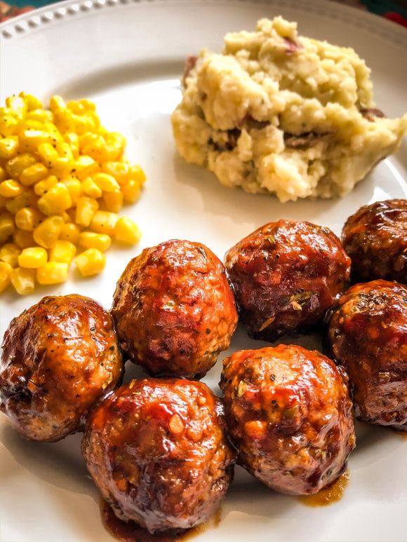 BBQ Ranch Meatballs or Chicken