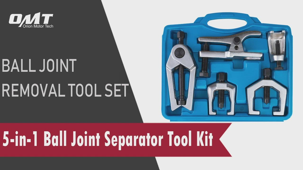 5pc Ball Joint Separator Tie Rod End Remover Pitman Arm Puller, Blue Case