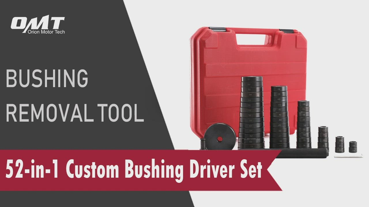 52pc Custom Bushing Driver Set, Bearing Race and Seal Installer Remover Tool Kit