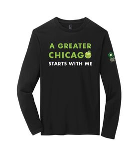 """A GREATER CHICAGO"" ADULT PUN LONG SLEEVE TEE"
