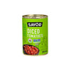 SAVOR ORGANIC DICED TOMATOES 398ML