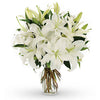 FLOWER - LILIES WHITE 5 STEMS