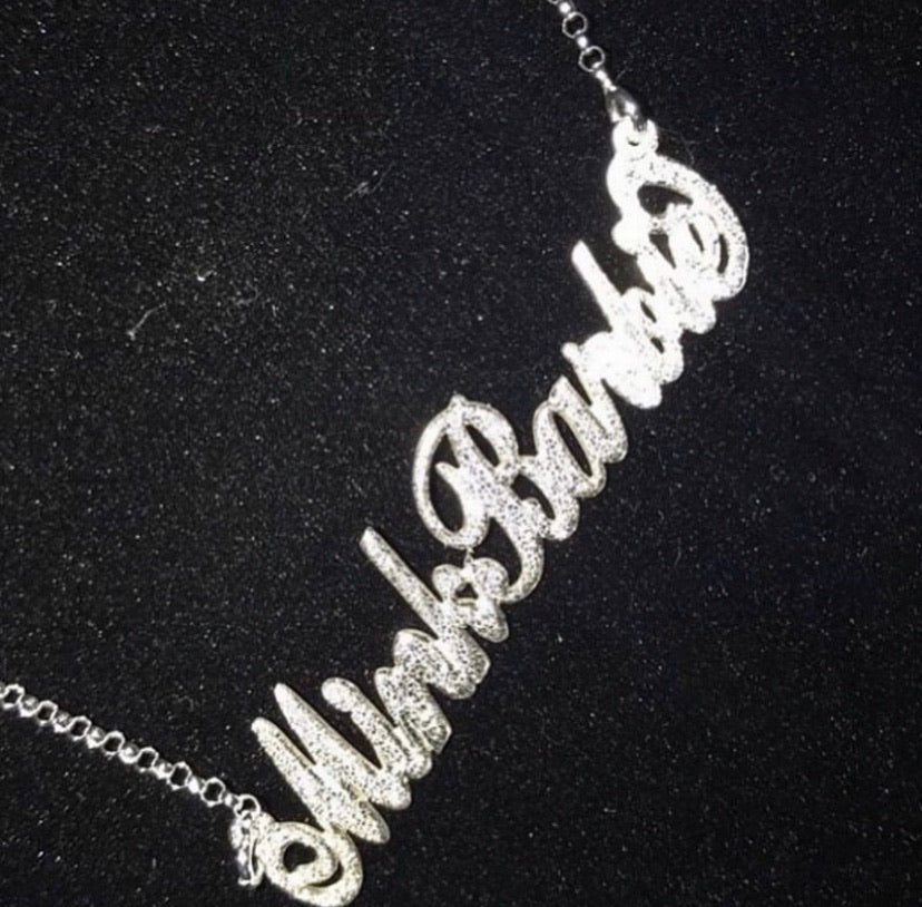 Sparkling Glitter Name Necklace