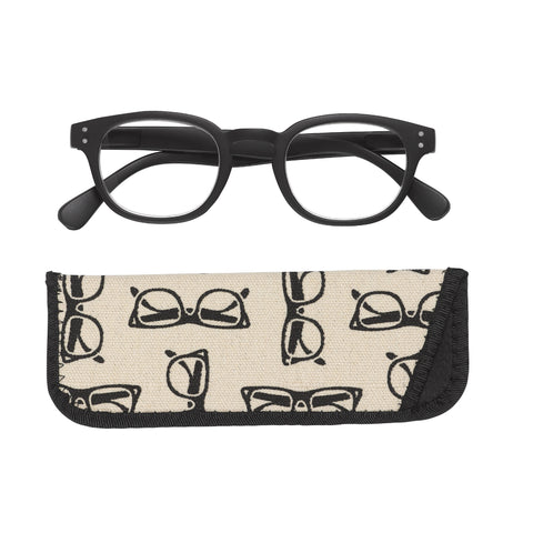 Manicare Reading Glasses Thick Black +2.5