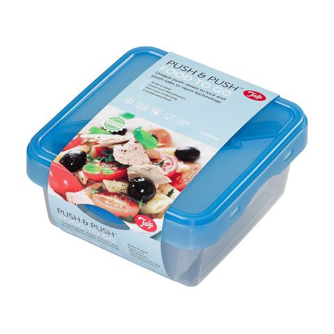 Tala Push & Push Food Storage Container with Cutlery 1150ml