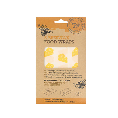 Tala Cheese Food Wax Wraps  set of three