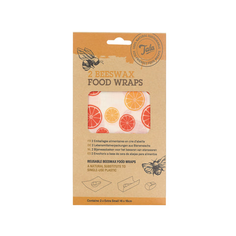 Tala Citrus Wax Wraps Set of 2 16x16cm