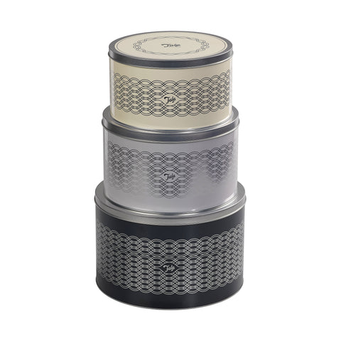 Indigo & Ivory Set Of 3 Cake Tins