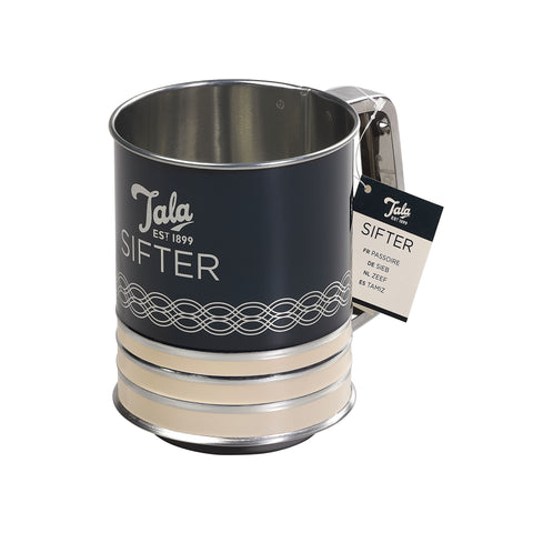 Indigo and Ivory Flour Sifter