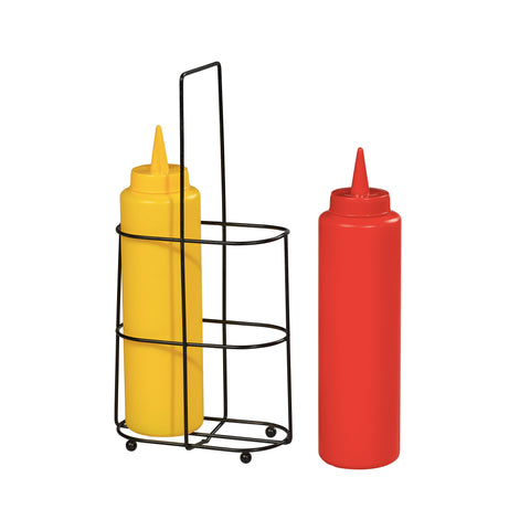 Chef Aid Sauce bottles with wire stand