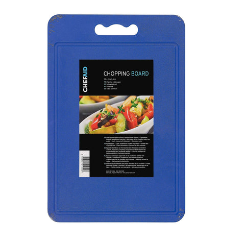 Chef Aid Blue Poly Chopping Board 35 x 25 x 0.4 cm