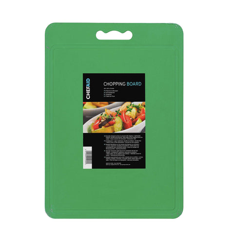 Chef Aid Green Poly Chopping Board 40 x 30 x 0.4 cm