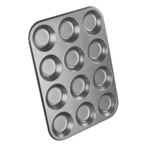 Chef Aid 12 Cup Shallow Bun Tin