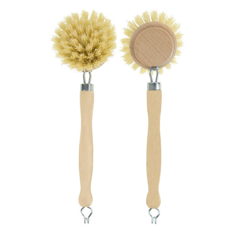 Elliotts Wooden Dish Brush with Natural Tampico Fibres