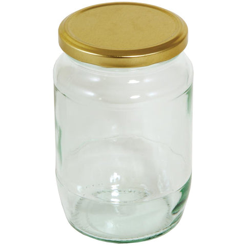 Tala 900 g Round Pickling Jar with Gold Screw Top Lid