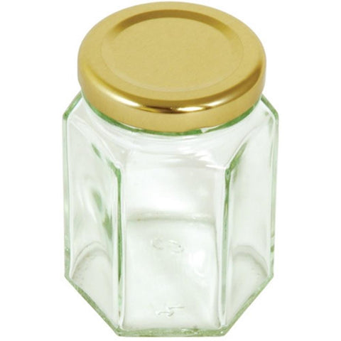 Tala Hexagonal JarWith Gold Screw Top Lid 110ml