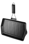 Chef Aid Non Stick Grill Pan with Foldable Handle - 30cm x 20cm