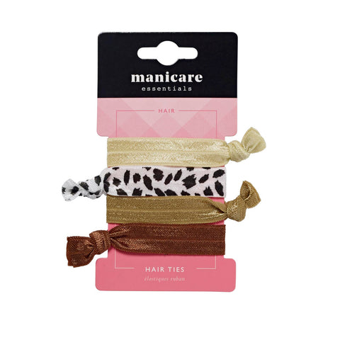 Manicare - 4 Hair Ties (natural)