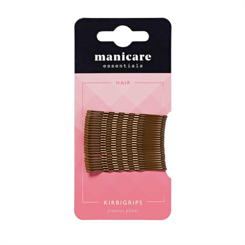 Manicare - 24 Kirbi Grips 5cm Brown