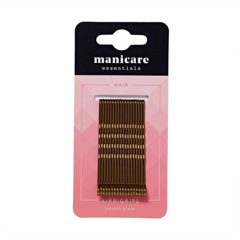 Manicare - 18 Kirbi Grips 6.4cm Brown