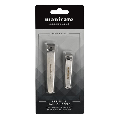 Manicare Premium Nail Clippers Duo Pack