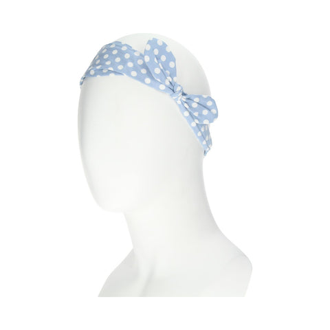 Manicare LTBD BLUE SPOTTY BOW HEADBAND WRAP