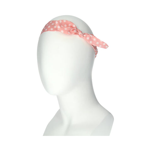 Manicare LTBD CORAL SPOTTY BOW HEADBAND WRAP