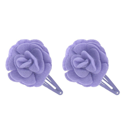 Manicare LTBD 2 PURPLE FLOWER SNAP CLIPS