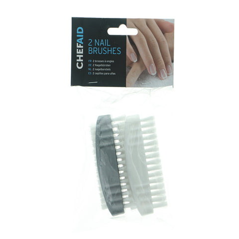 Chef Aid Plastic Nail Brush - Pack of 2