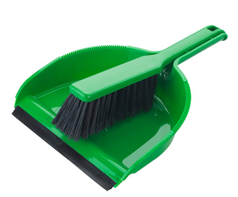 Elliotts Dustpan & Brush Set Green Soft
