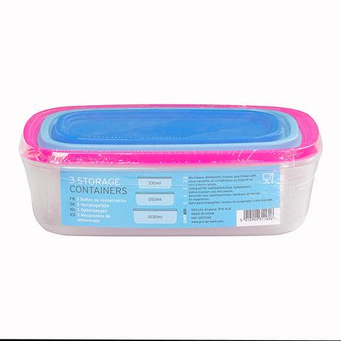 Chef Aid 3 Storage Containers